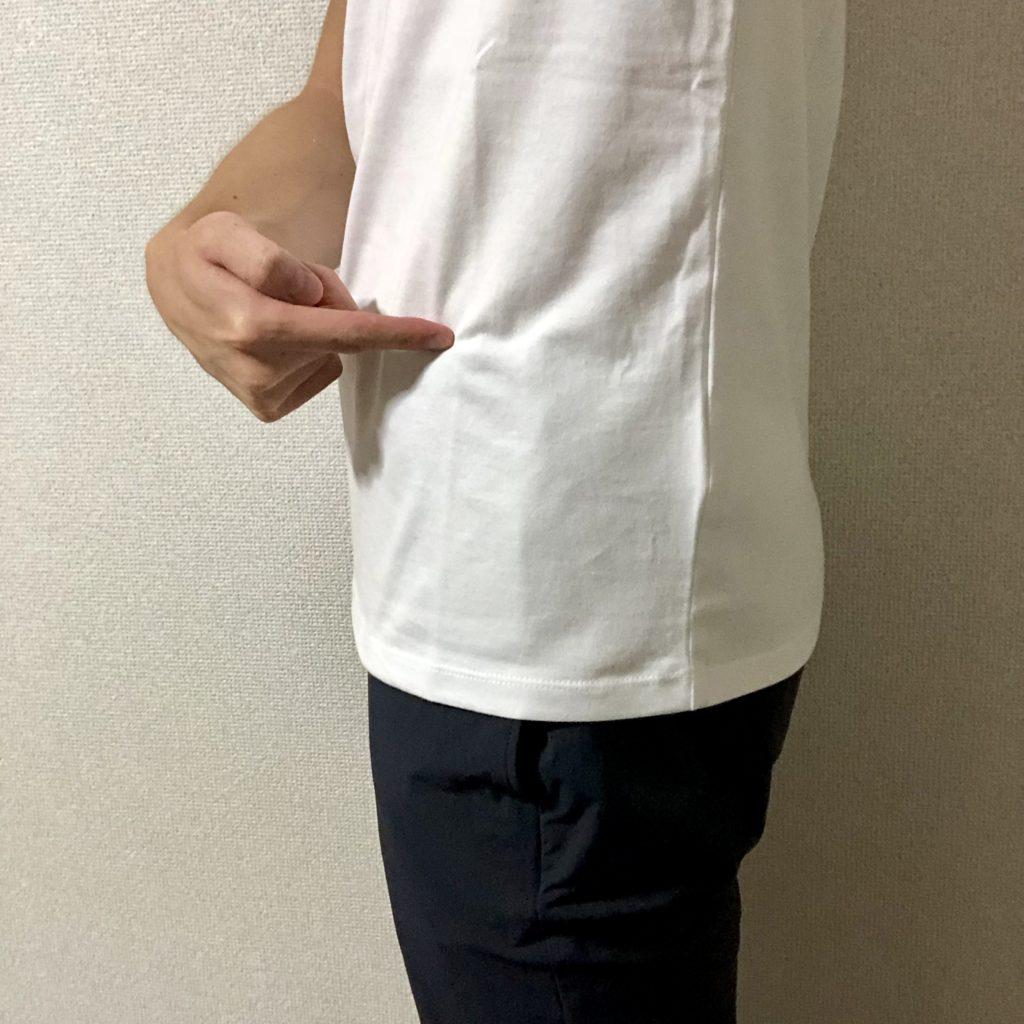 ZOZOオーダーメイドVネックTシャツ丈の長さ