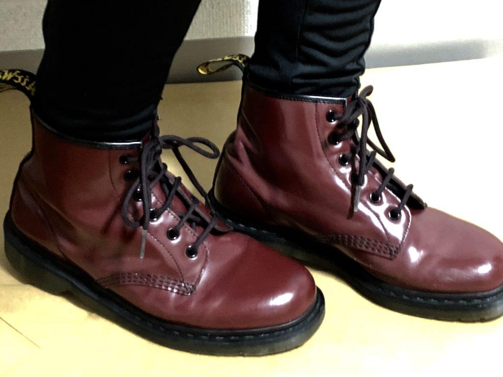 Dr.Martensブーツの靴紐の結び方 めんどくさい