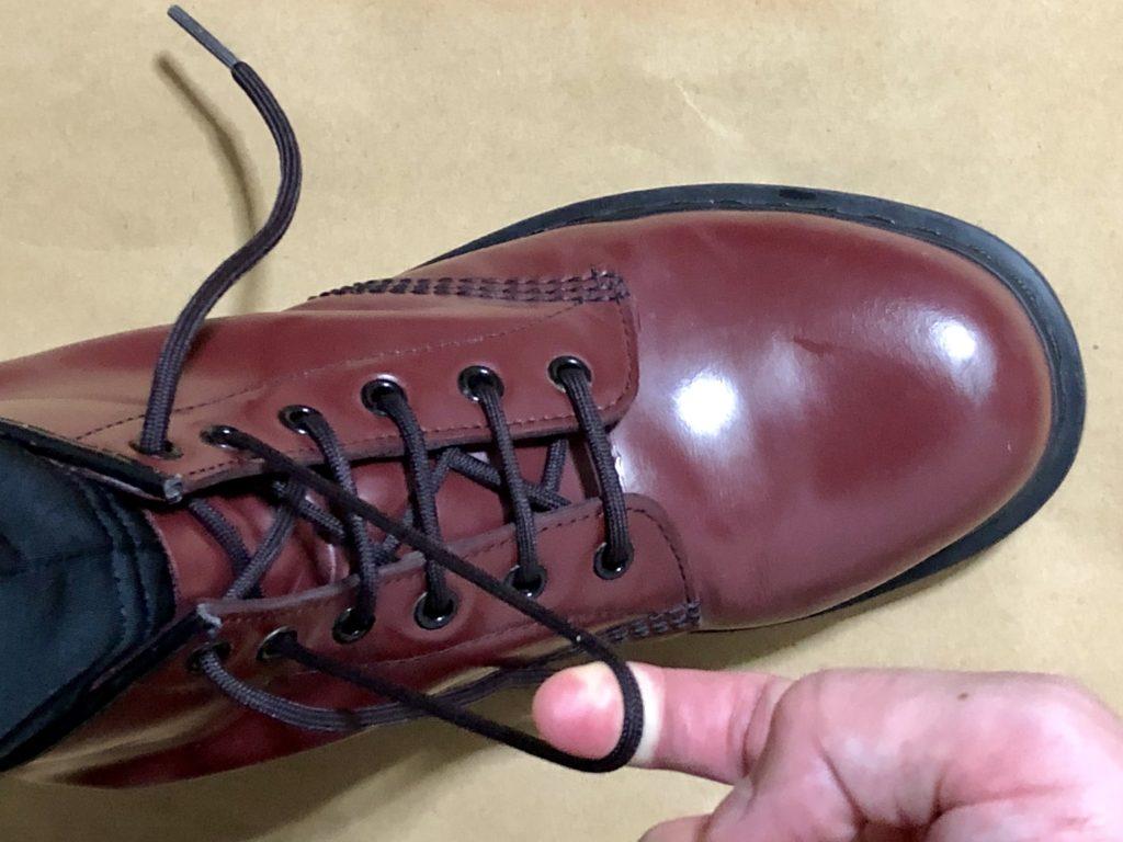 脱めんどくさいドクターマーチンの靴ひもの結び方