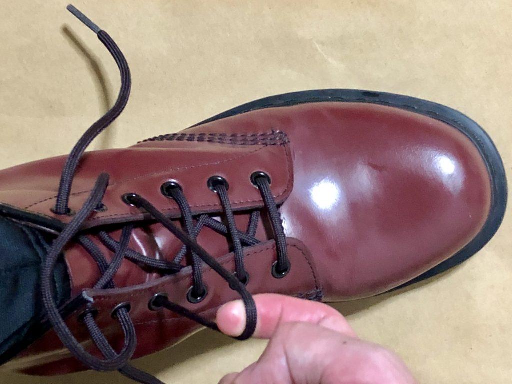Dr.Martensブーツのかっこいい靴紐の結び方めんどくさがり必見