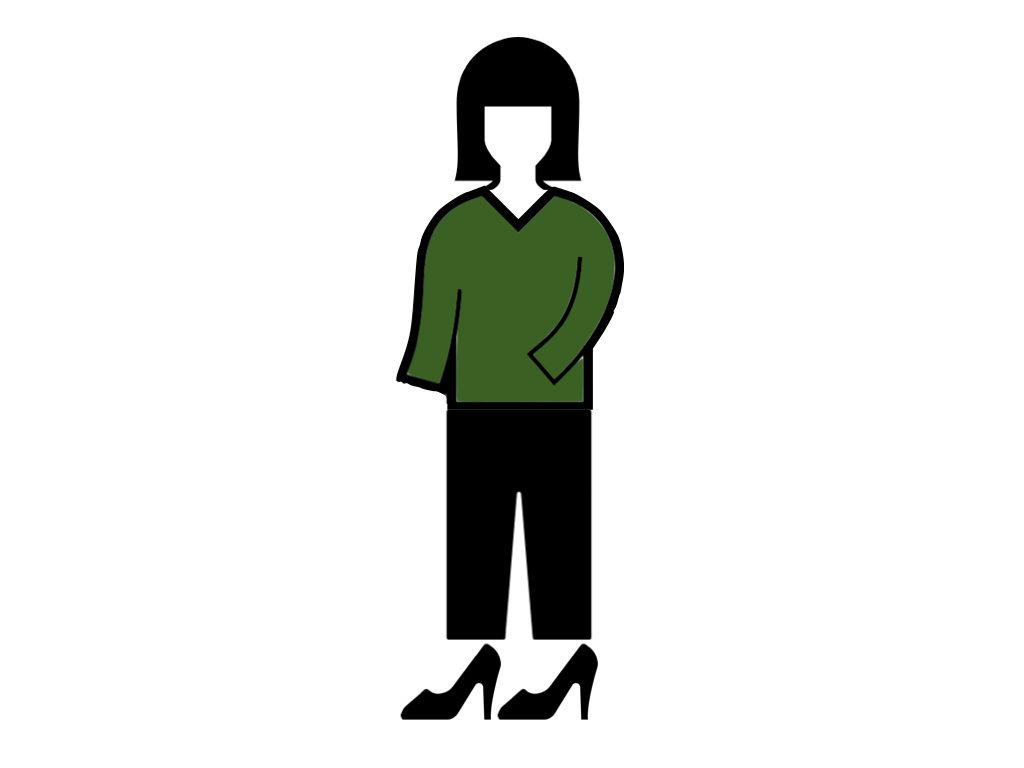 アンミカのファッションチェックコーディネート例1